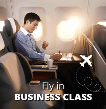 first class business flight