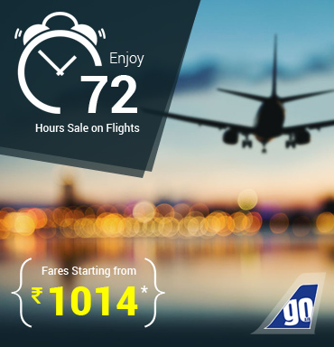 Lowest Airfare - Enjoy 72 Hours Sale on Flights with Fares Starting from Rs. 1014/*- at Makemytrip