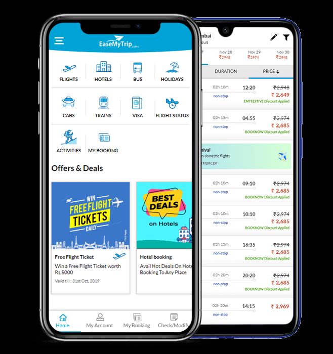 EaseMyTrip mobile apps
