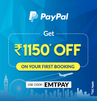 Save Rs.1150 on booking through PayPal.