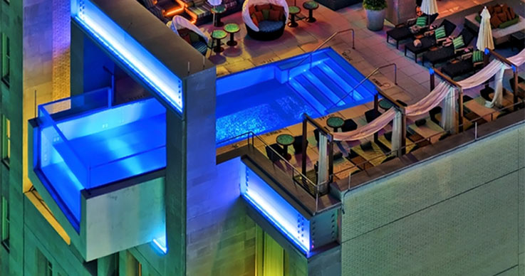 Explore the amazing hanging pools have fun - Adelphi hotel melbourne swimming pool ...