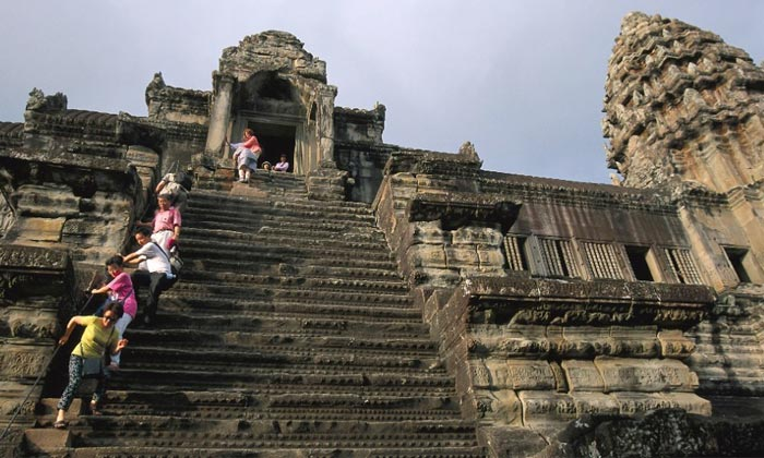 Angkor Wat Temple Stairs, Cambodia
